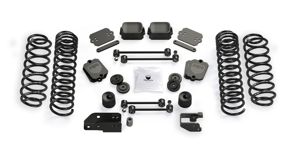Jeep JL Coil Spring Base 3.5 Inch Lift Kit No Shock Absorbers For 10-Pres Wrangler JL 2 Door TeraFlex 1356002