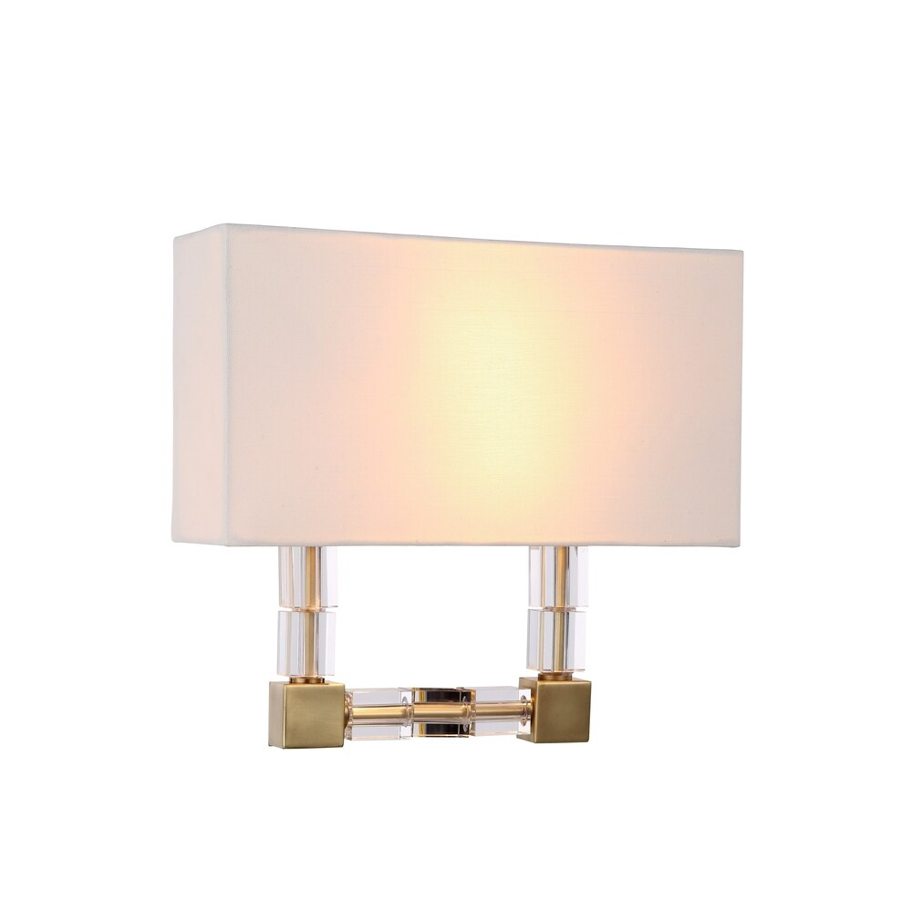 Elegant Lighting Cristal Collection 1461 Wall Sconce with Burnished Brass Finish (Cristal Collection 1461 Wall Sconce)