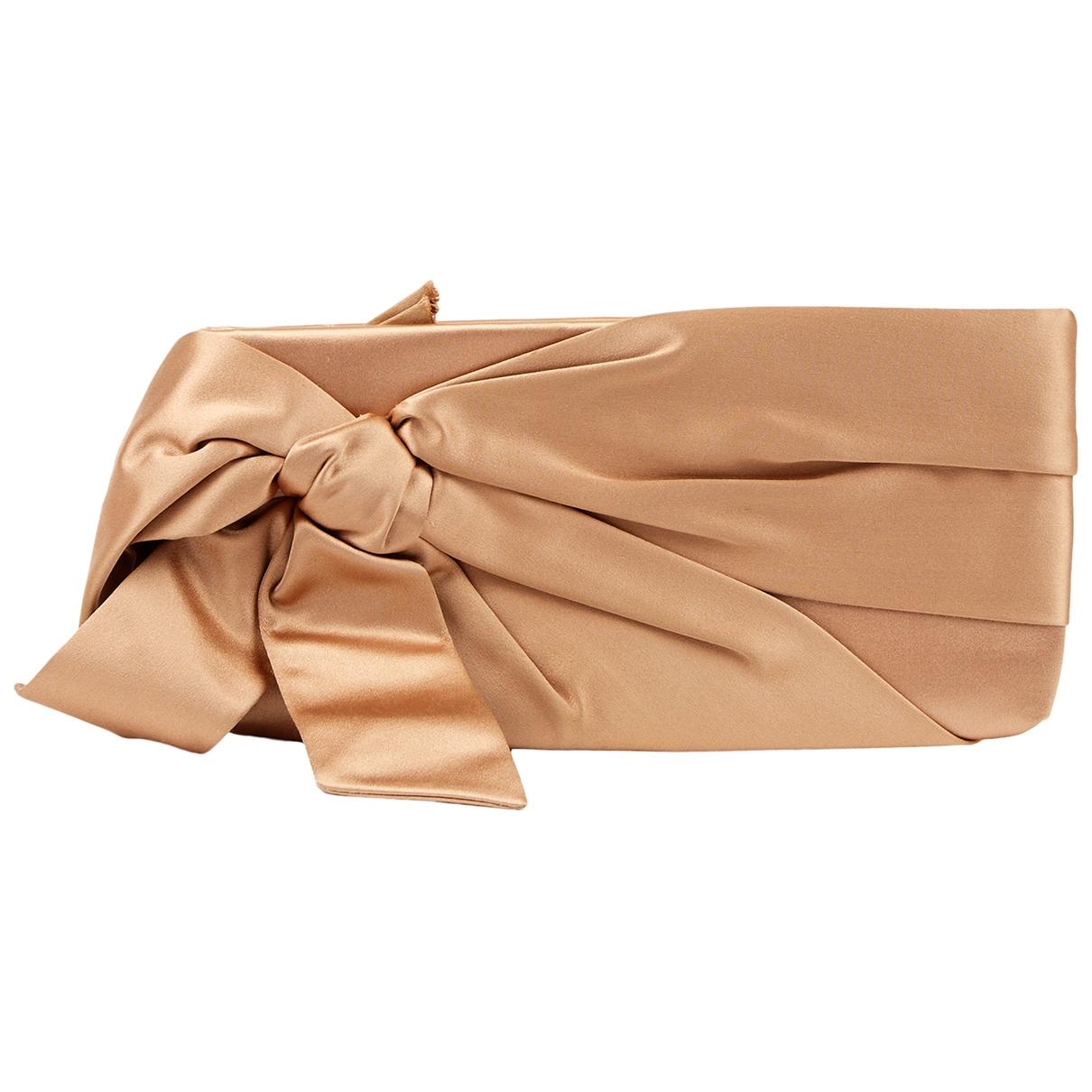 Valentino Garavani - Petite maroquinerie   pour femme en soie - beige
