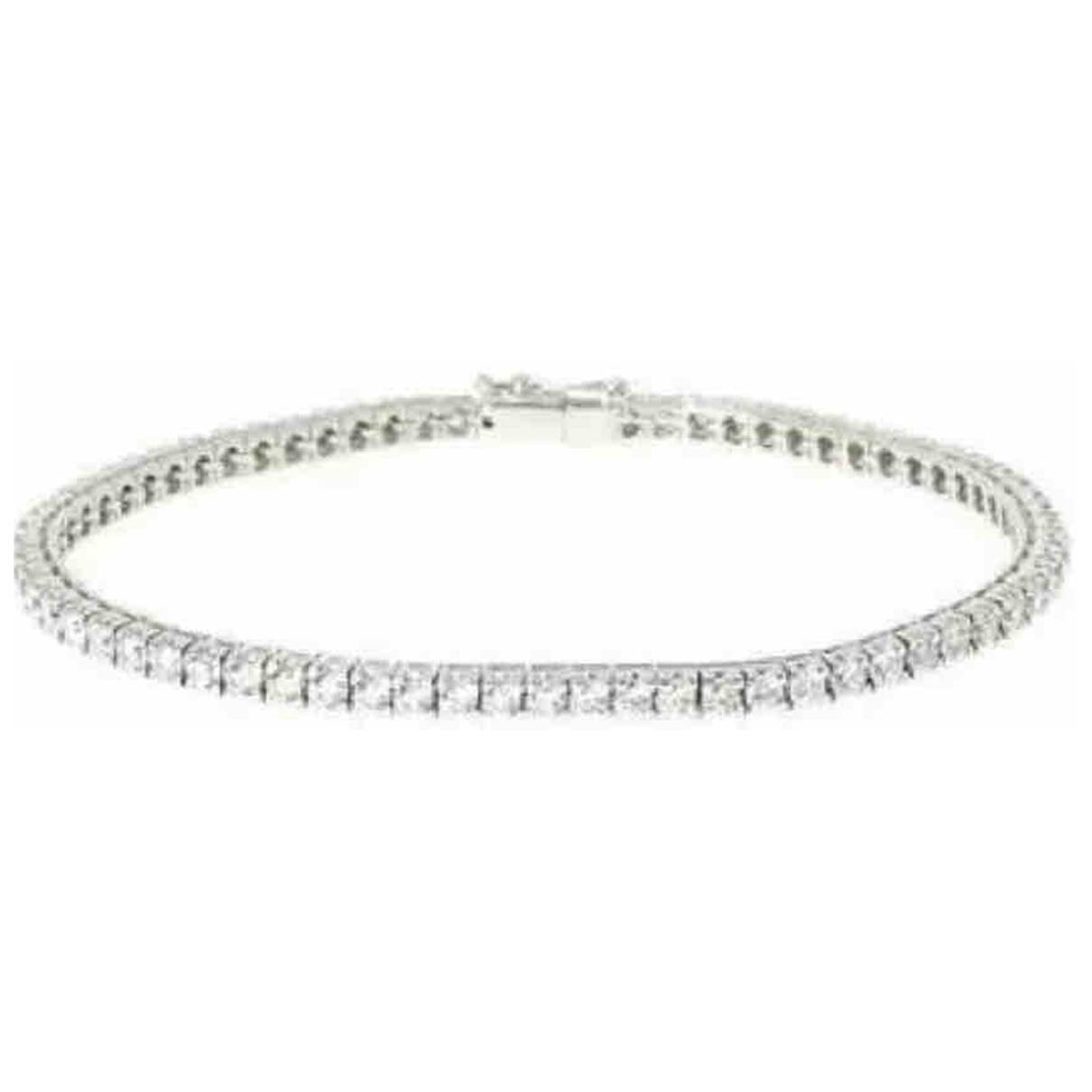 Non Signe / Unsigned Tennis Armband in  Silber Weissgold