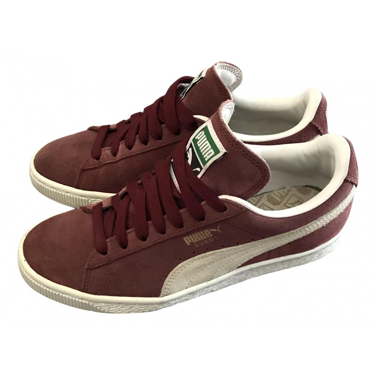 Puma \N Sneakers in  Bordeauxrot Veloursleder