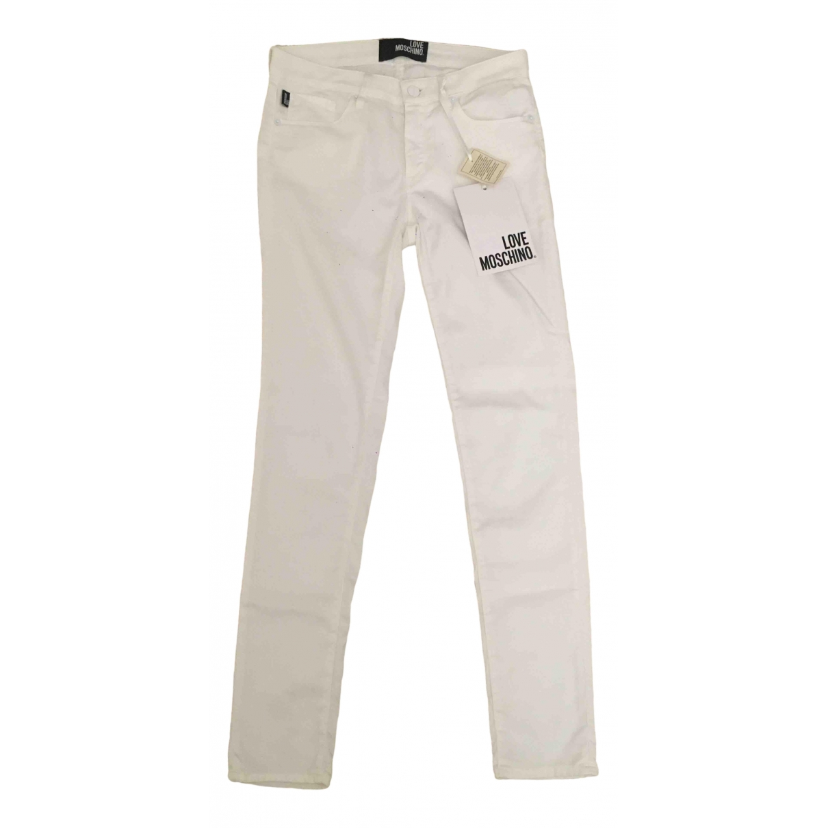 Moschino Love \N White Cotton Jeans for Women 26 US