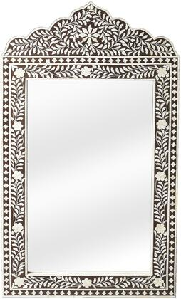 Victoria Collection 1856070 Wall Mirror with Traditional Style  Rectangular Shape  Medium Density Fiberboard (MDF) and Bone Inlays in Heritage