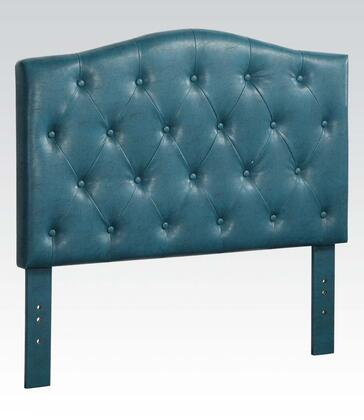 39128 Viola Twin Size Headboard with Button Tufting Detail and PU Leather Upholstery in