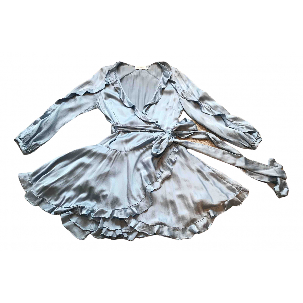 Zimmermann \N Blue Silk dress for Women 2 0-5