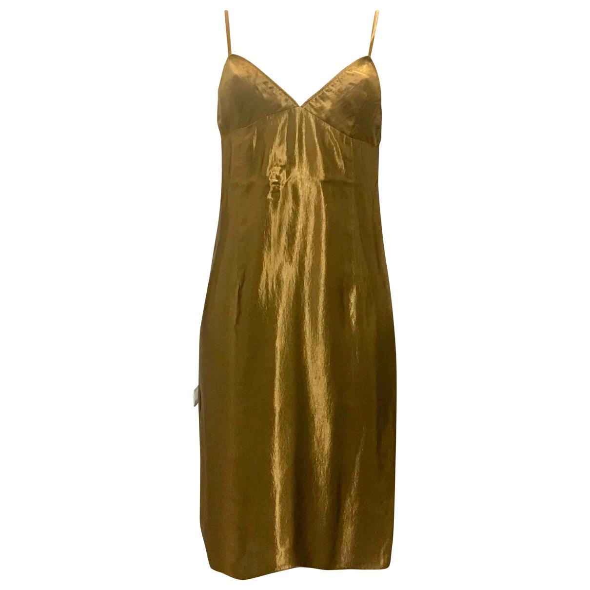 Miu Miu \N Kleid in  Gold Synthetik