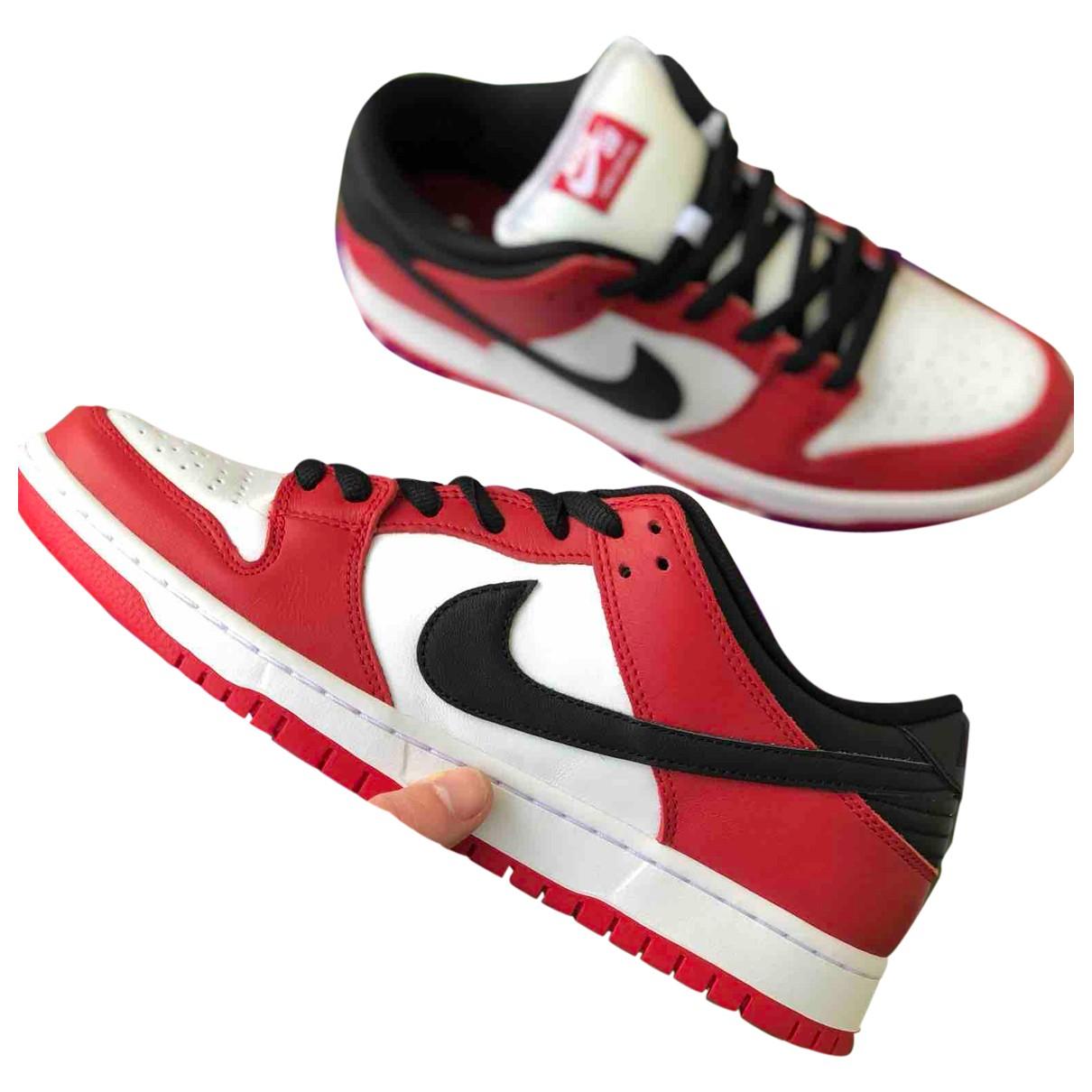 Nike SB Dunk  Sneakers in  Rot Kautschuk