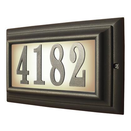 LTL-1301-ORB Edgewood Large Lighted Address Plaque in Oil Rub Bronze Frame