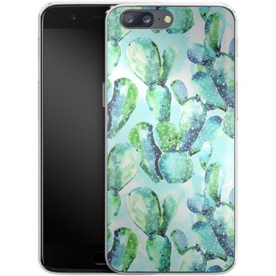 OnePlus 5 Silikon Handyhuelle - Cactus Tropicana von Mark Ashkenazi