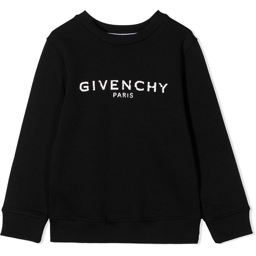 Givenchy Logo Sweater Colour: BLACK, Size: 14 YEARS