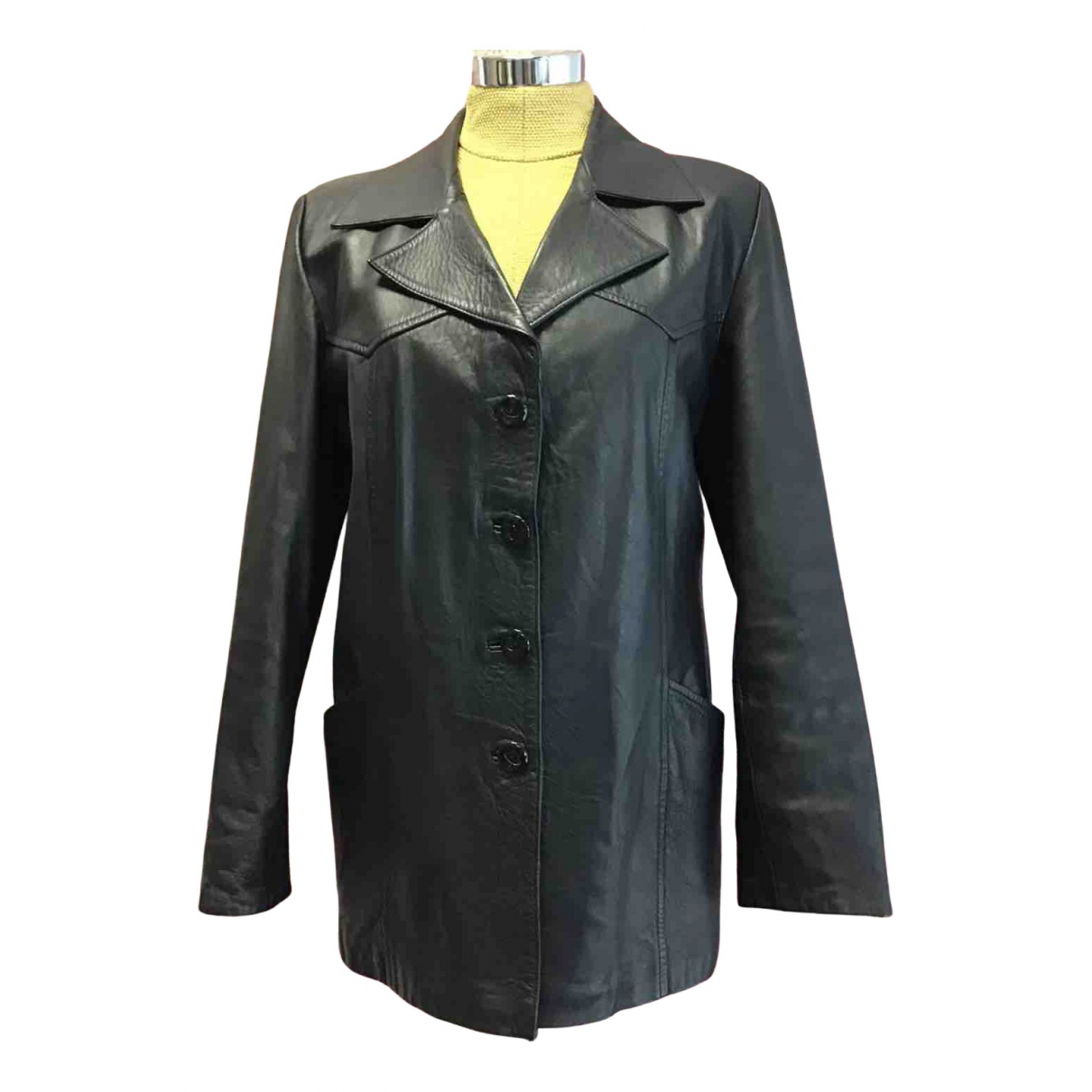 Gianni Versace N Black Leather Leather jacket for Women S International