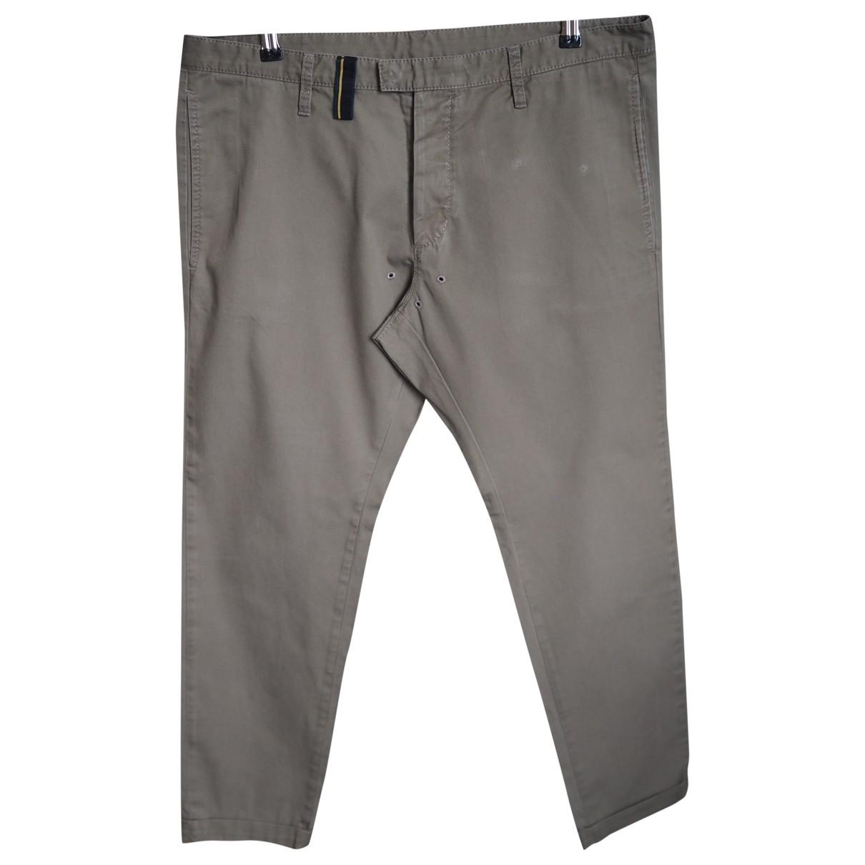 Pantalones en Algodon Beige Dsquared2