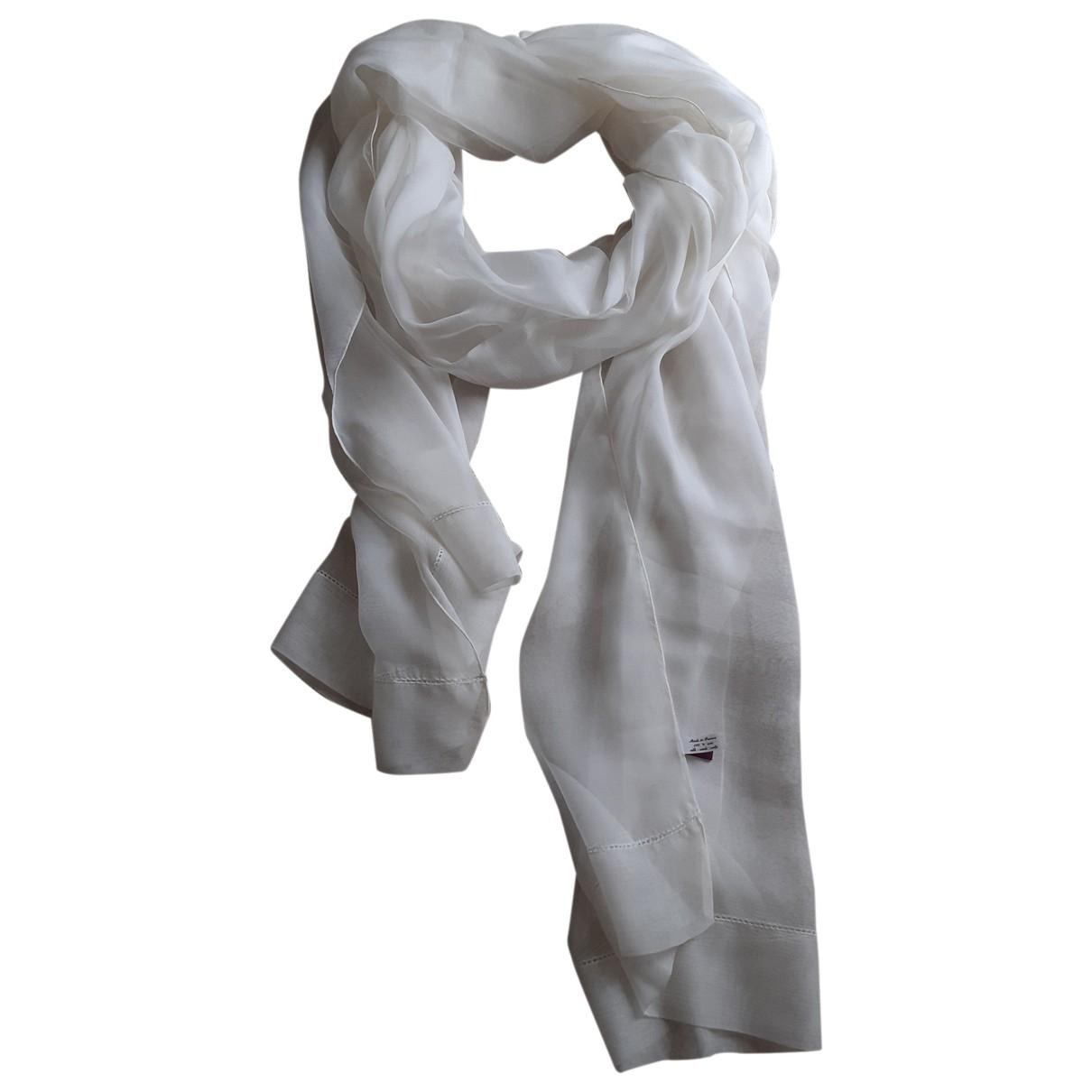 Talbot Runhof - Foulard   pour femme en soie - ecru