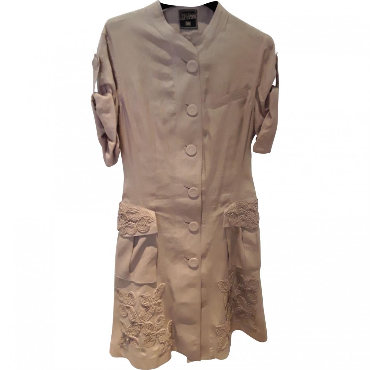 Jean Paul Gaultier \N Pink Linen dress for Women 44 IT