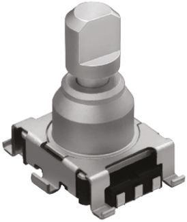 Alps Alpine 15 Pulse Incremental Mechanical Rotary Encoder with a 5.975 mm Flat Shaft (Not Indexed), SMD