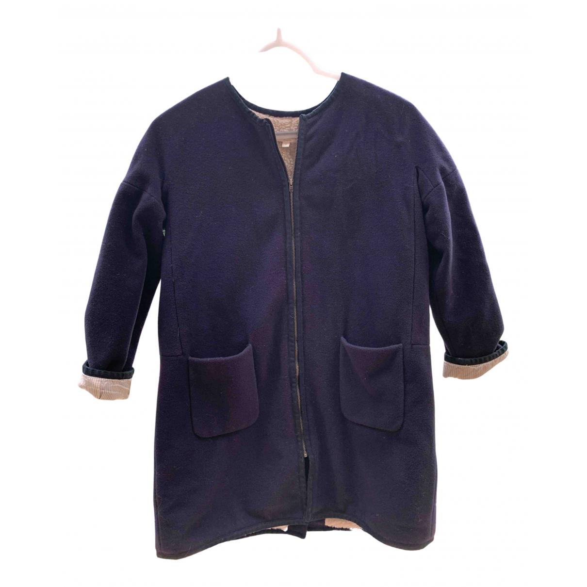 Caramel Baby & Child - Blousons.Manteaux   pour enfant en laine - bleu