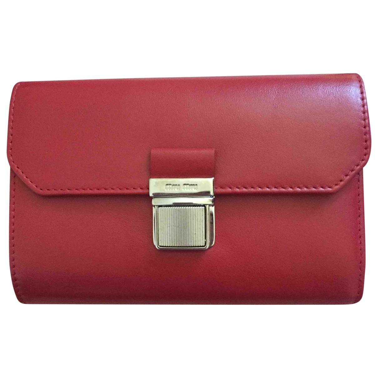 Miu Miu \N Red Leather wallet for Women \N