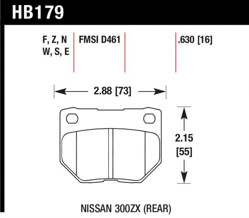 Hawk Performance HB179F.630 Disc Brake Pad Rear