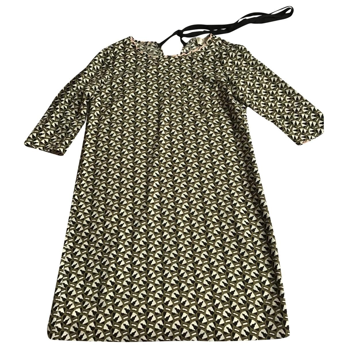 Essentiel Antwerp \N Kleid in  Khaki Polyester