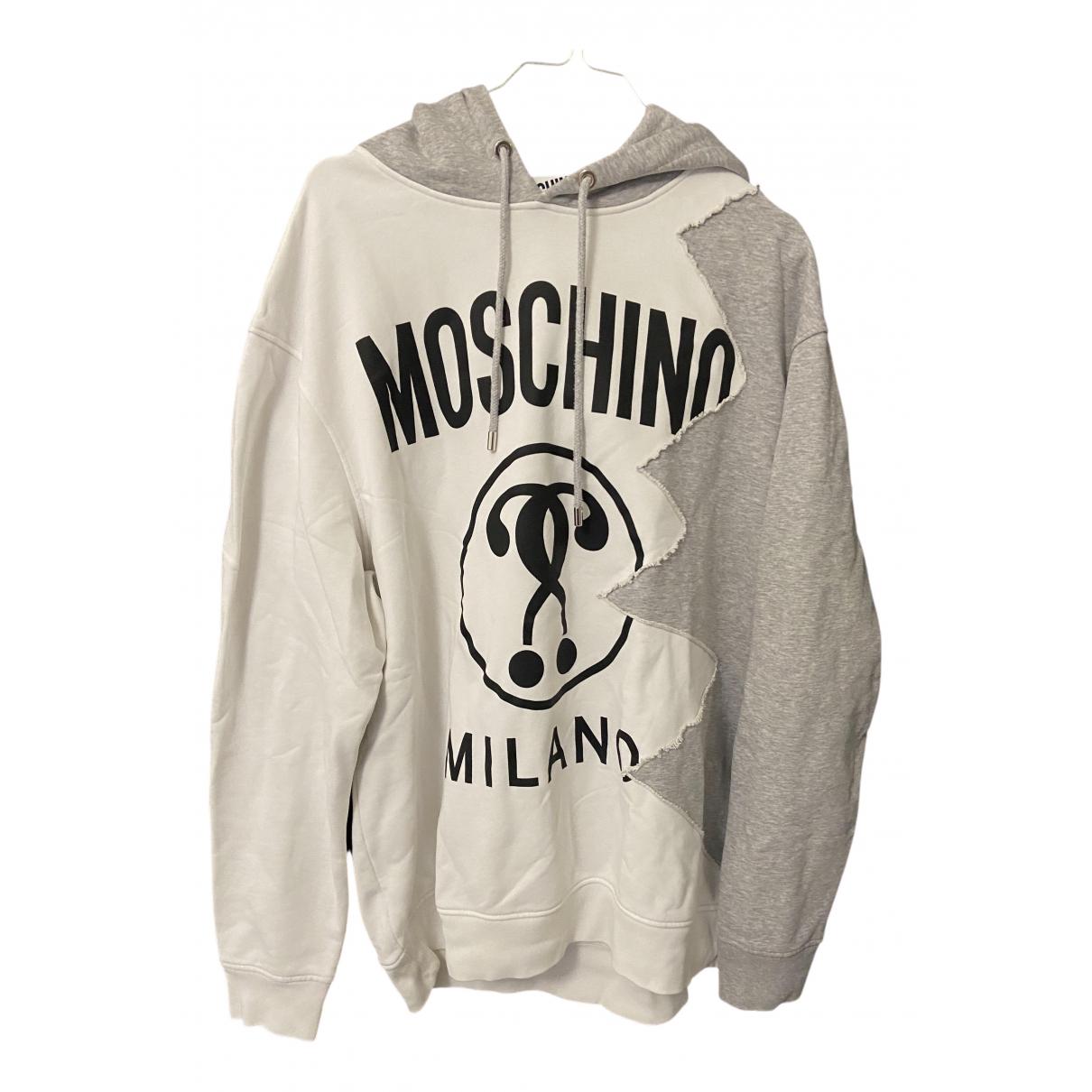 Moschino \N Pullover.Westen.Sweatshirts  in  Weiss Baumwolle
