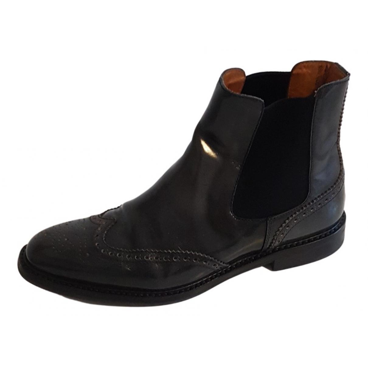 Churchs - Boots   pour femme en cuir - gris