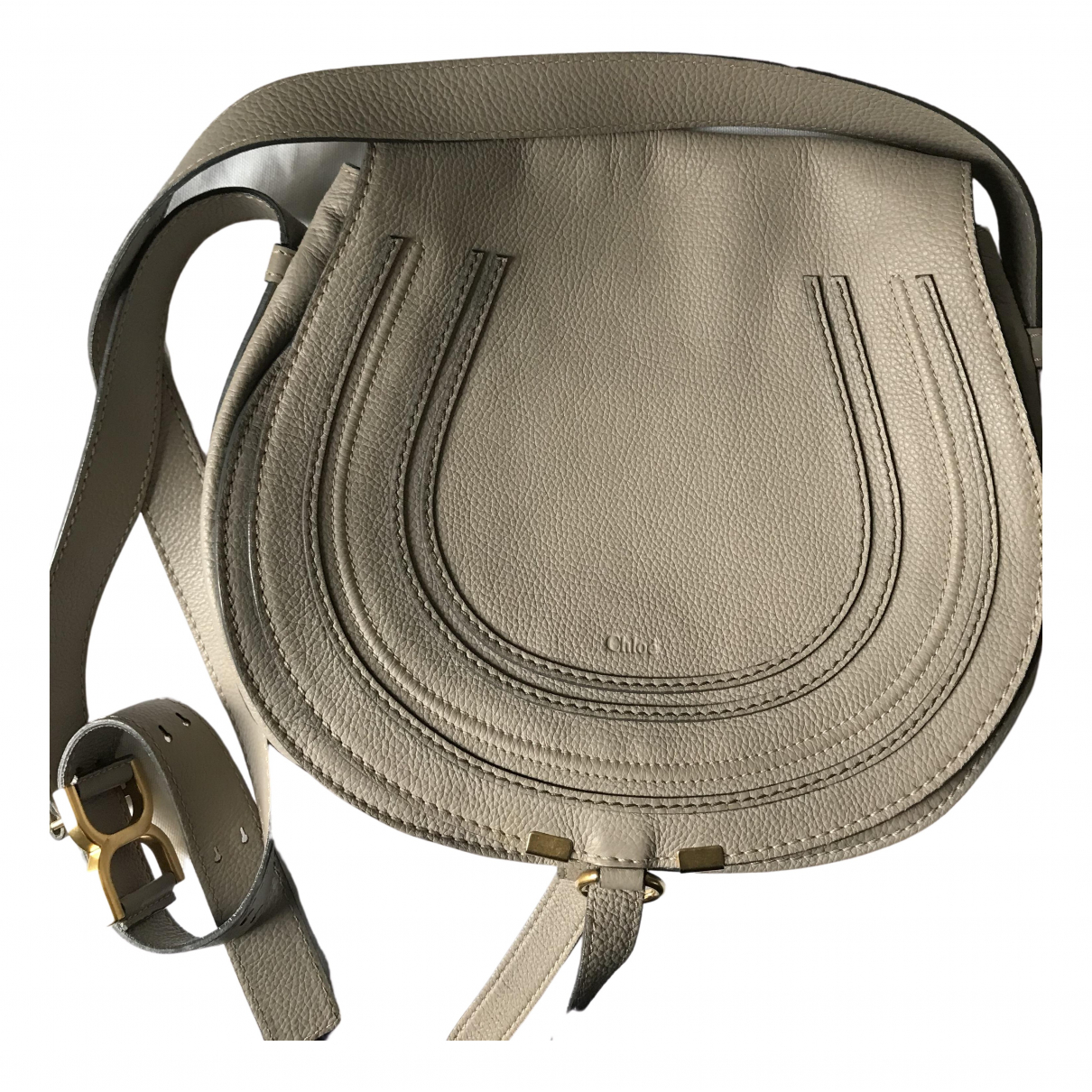 Chloé Marcie Beige Leather handbag for Women N