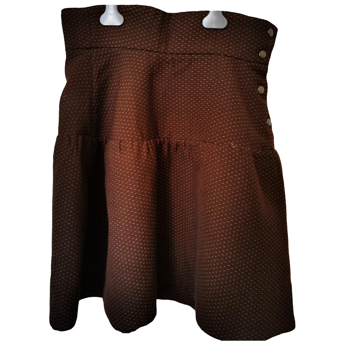 Marni \N Brown Wool skirt for Women 42 IT