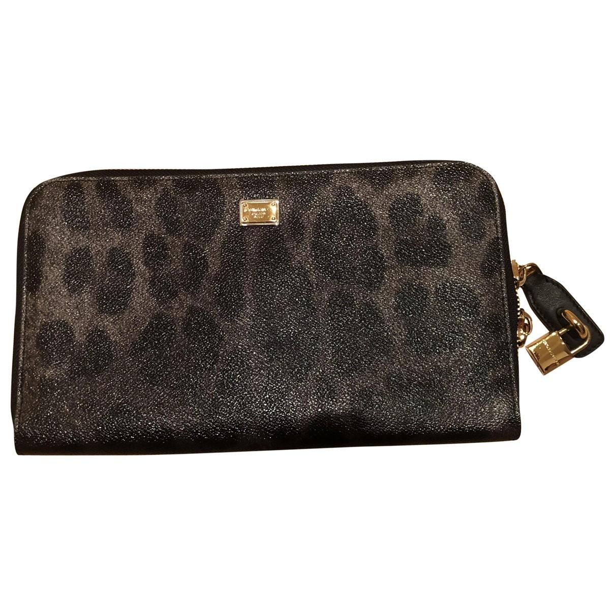 Dolce & Gabbana - Pochette   pour femme en cuir - anthracite
