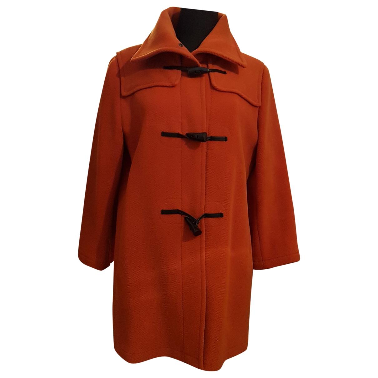 Burberry \N Maentel in  Orange Wolle