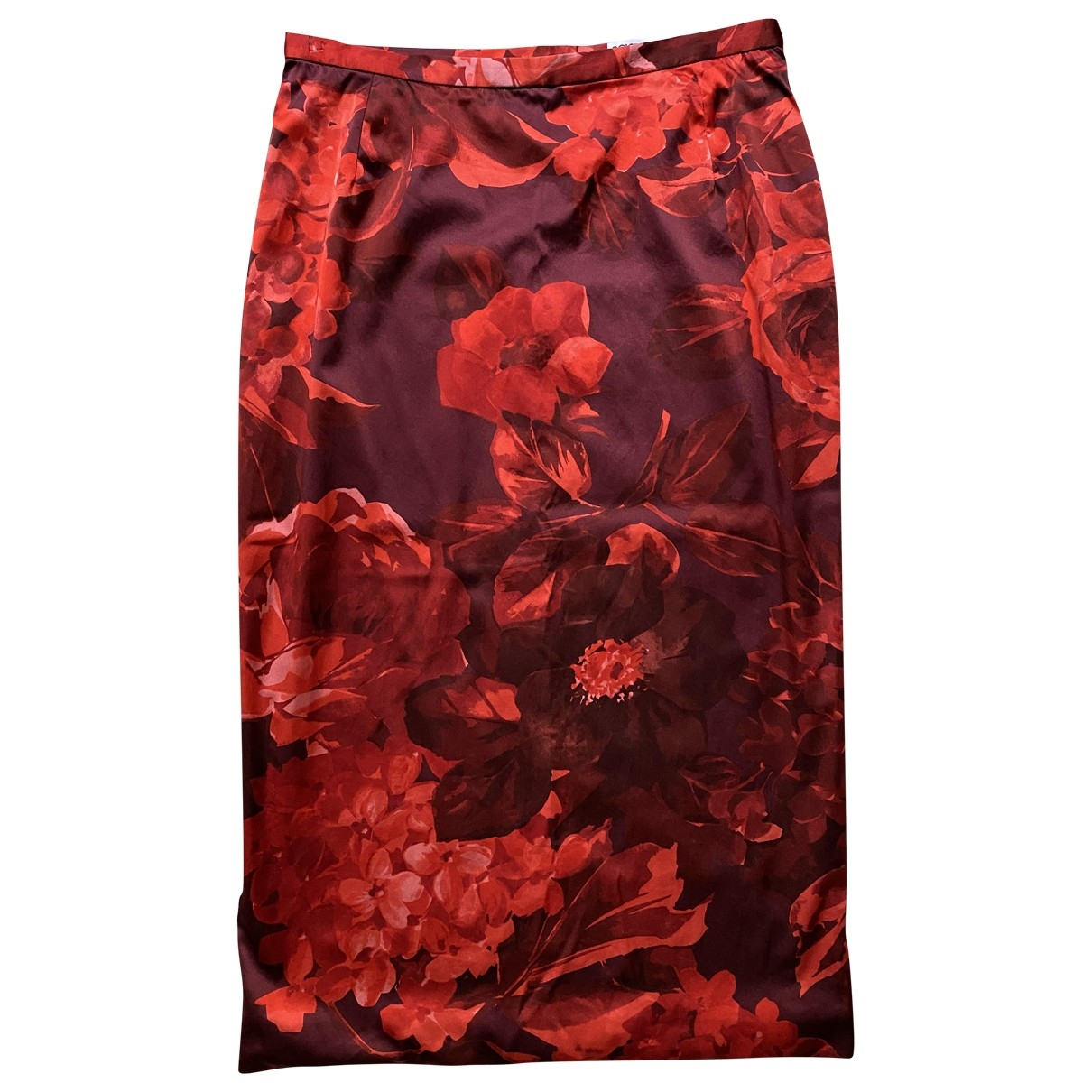 Dolce & Gabbana \N Red Silk skirt for Women 42 IT