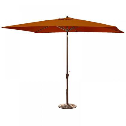 NU5433TS Adriatic 6.5-ft x 10-ft Rectangular Market Umbrella in Terra Cotta Sunbrella