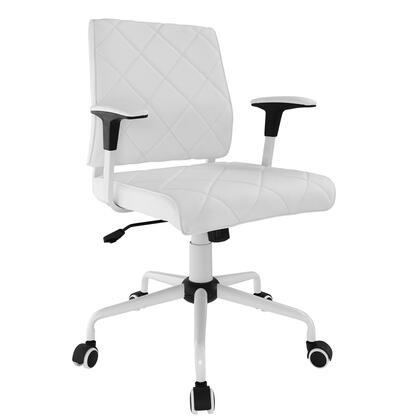 EEI-1247-WHI Lattice Vinyl Office Chair in White