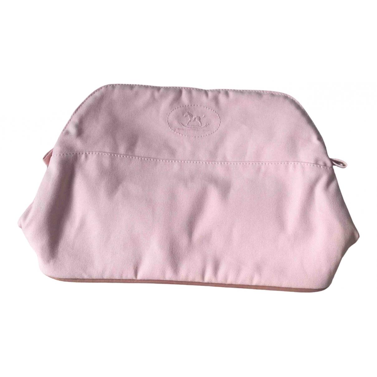Hermes - Sac de voyage Bolide pour femme en coton - rose
