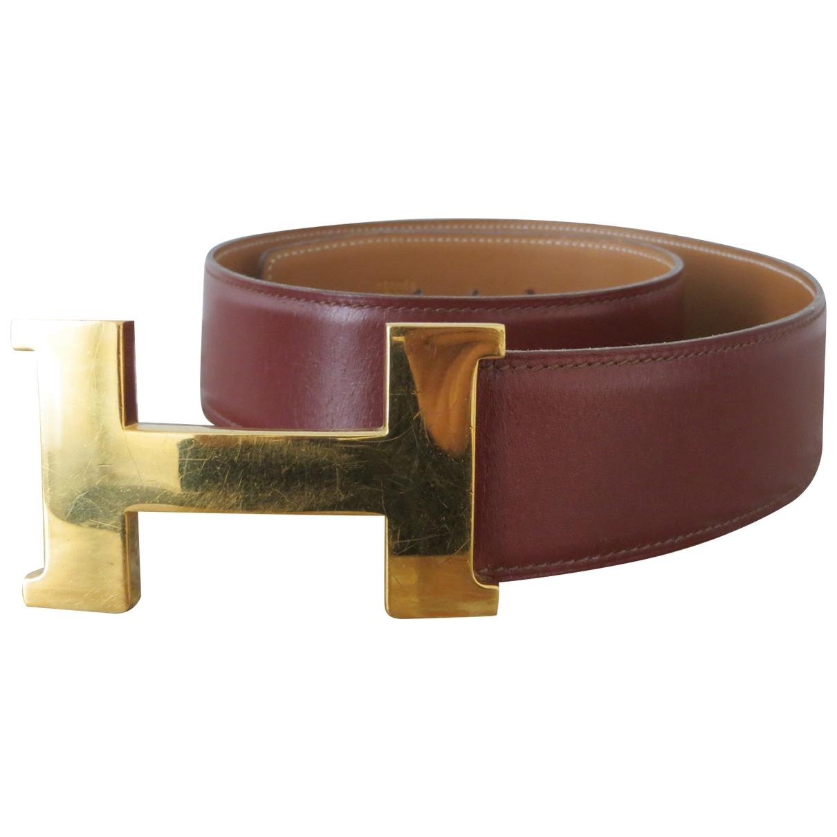 Hermès H Brown Leather belt for Women 75 cm