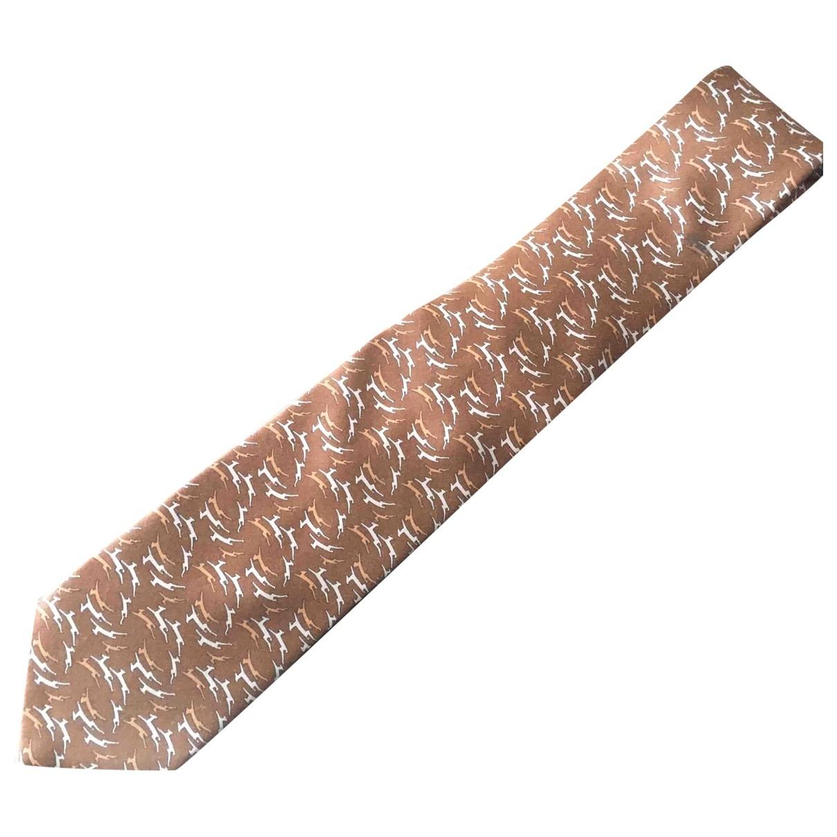Lanvin \N Krawatten in  Braun Seide