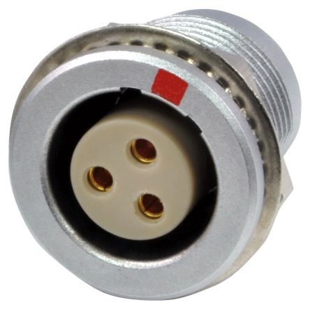 RS PRO Circular Connector, 3 contacts Cable Mount Socket, Solder IP50