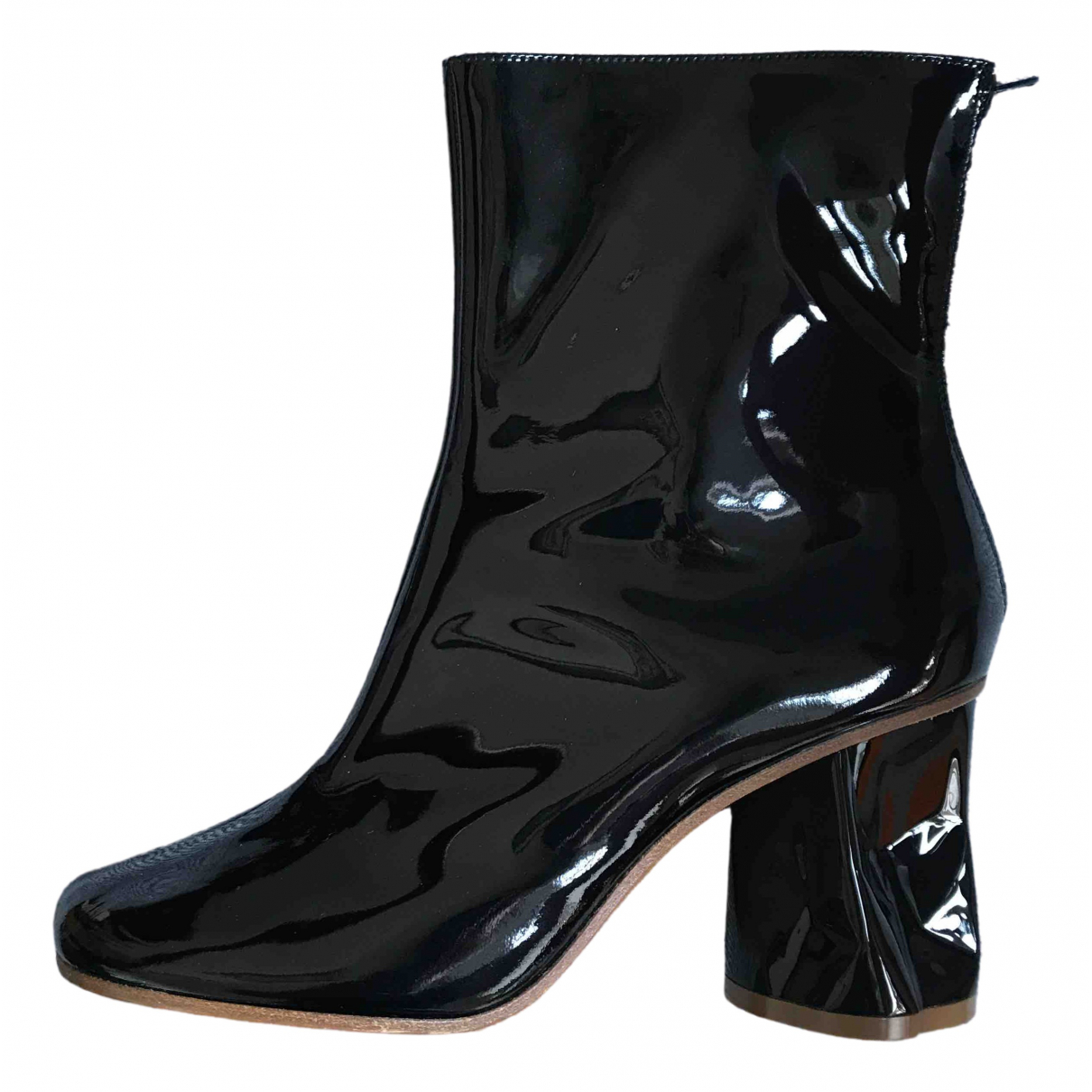 Maison Martin Margiela \N Black Patent leather Ankle boots for Women 37 EU
