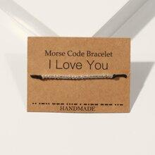 ROMWE FUNSTUFF 1pc Morse Code I Love You Bracelet