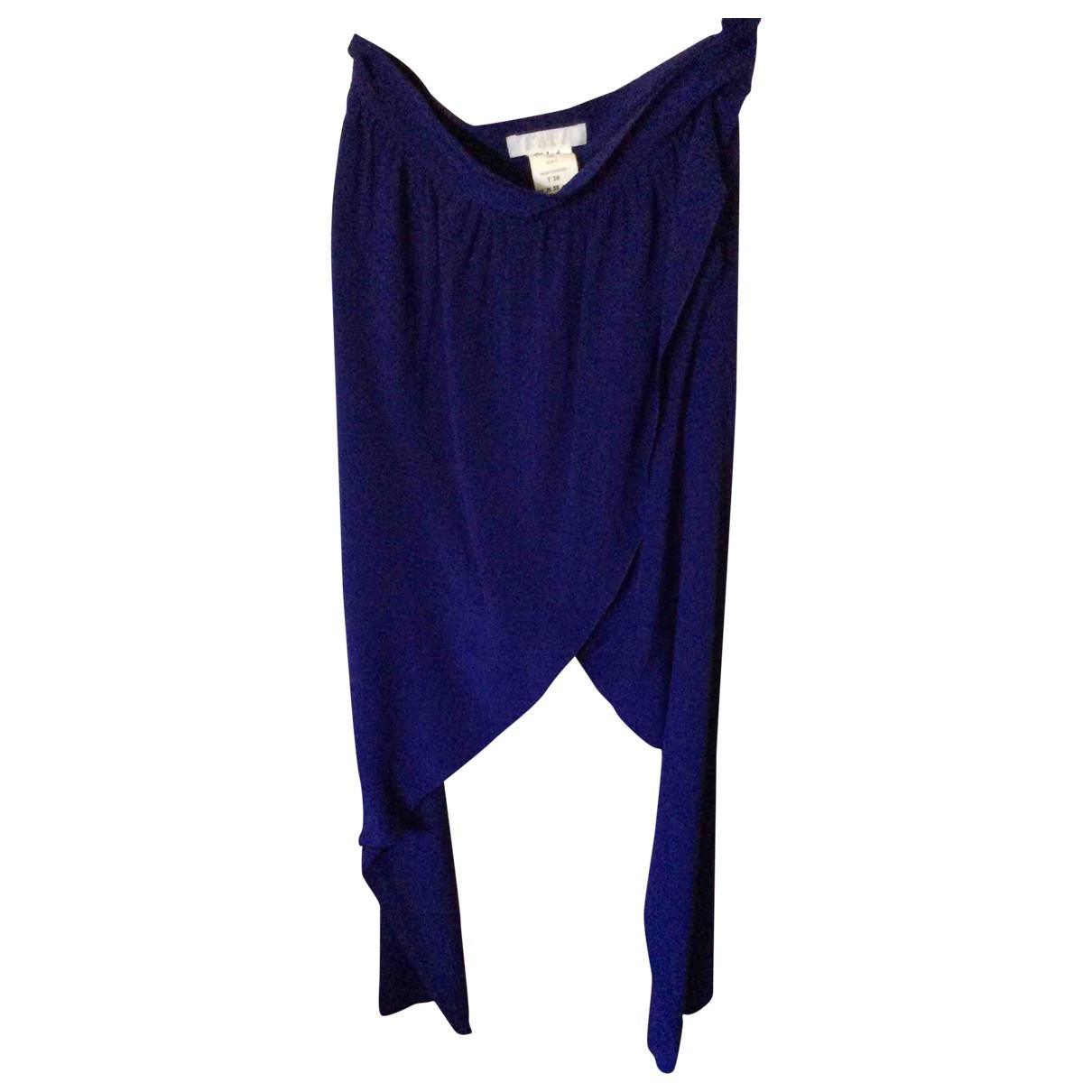 Chloé \N Blue Silk Trousers for Women 38 FR