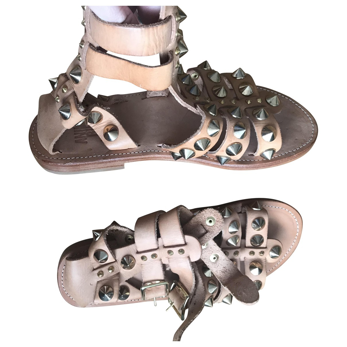Anine Bing \N Beige Leather Sandals for Women 36 EU
