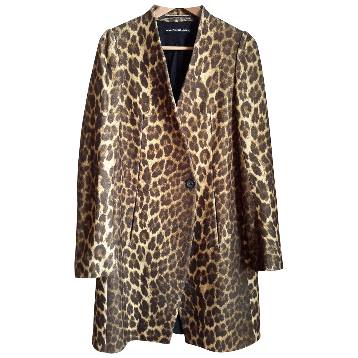 Non Signé / Unsigned \N Camel Wool coat for Women 44 IT