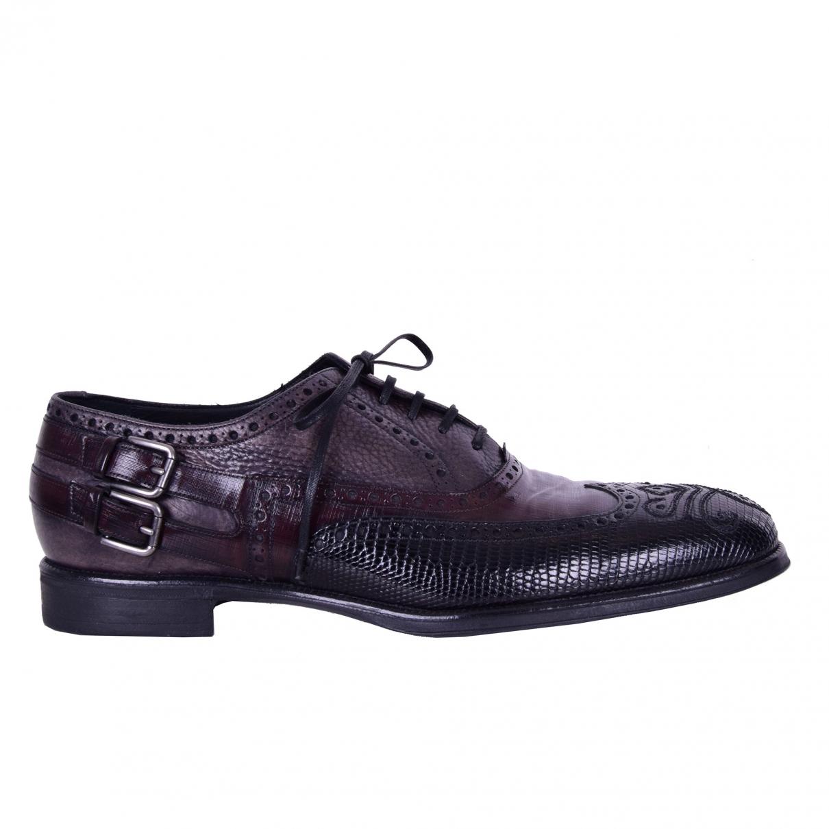 Dolce & Gabbana - Derbies   pour homme en varan - marron