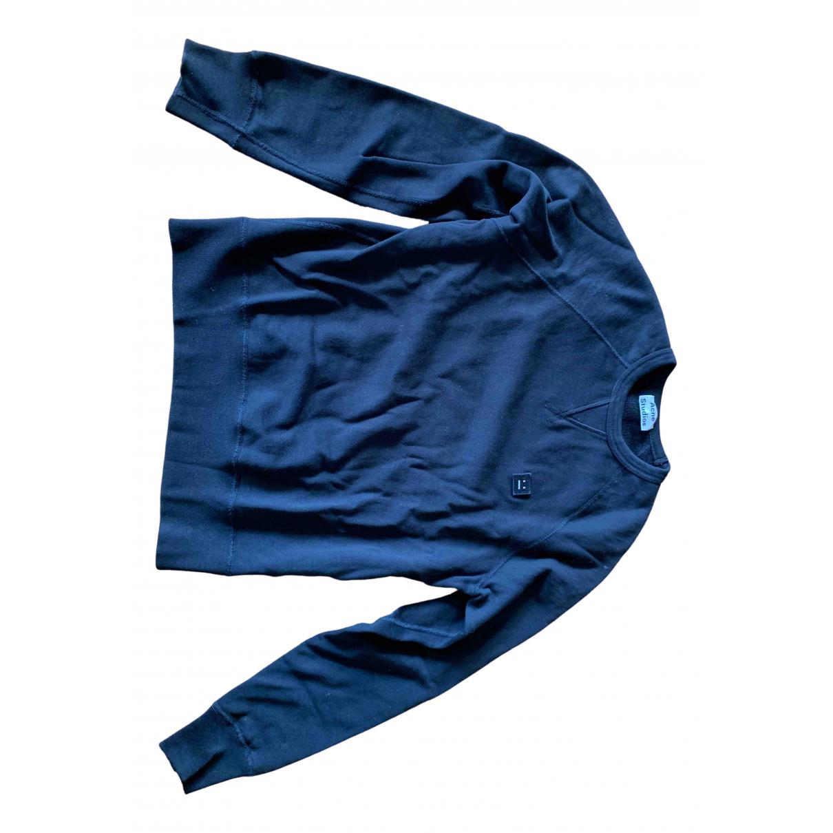 Acne Studios \N Pullover.Westen.Sweatshirts  in  Schwarz Baumwolle