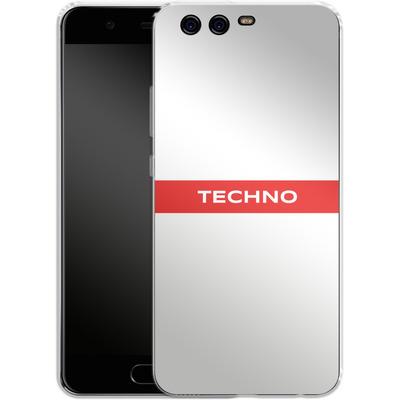 Huawei P10 Silikon Handyhuelle - RED LINE von Berlin Techno Collective