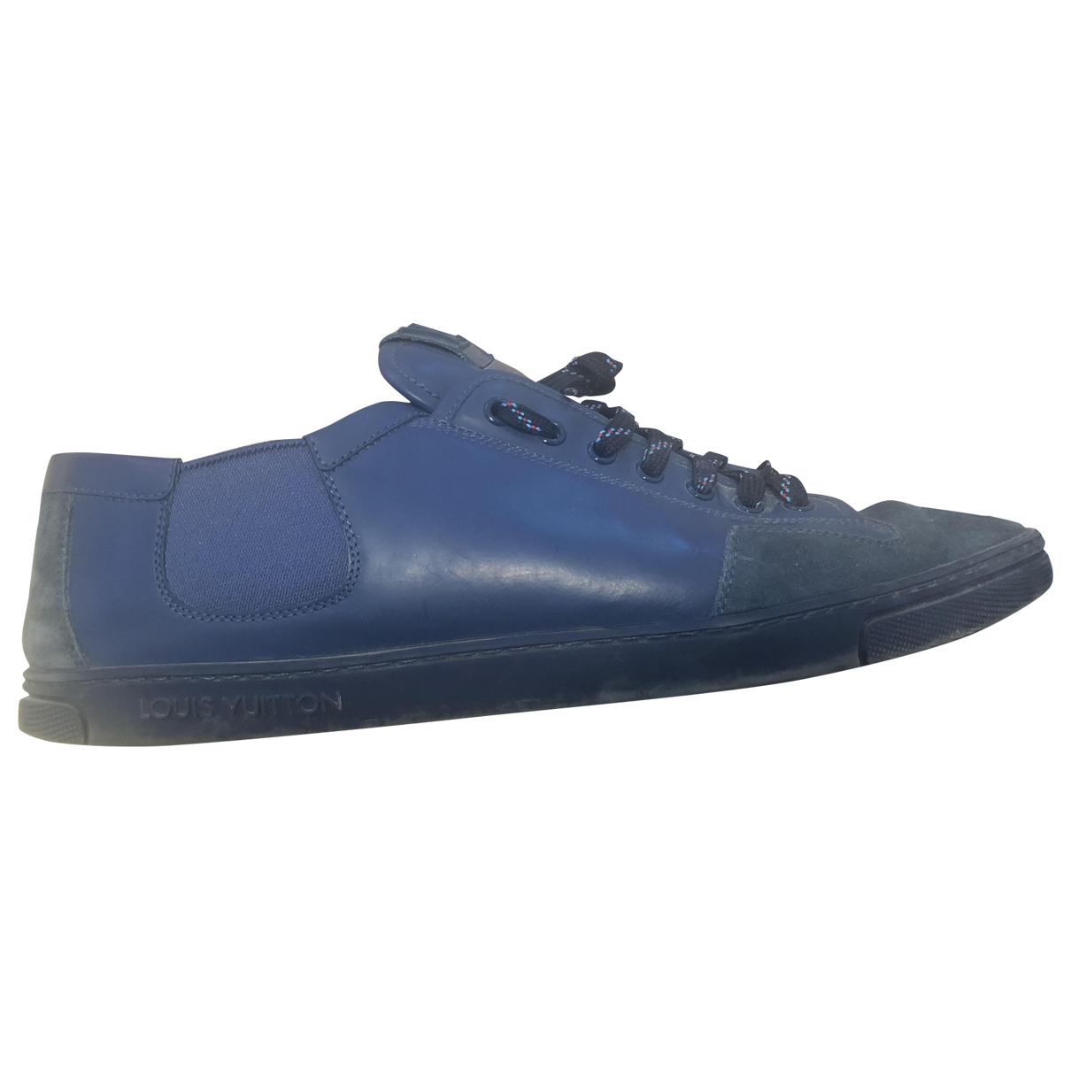 Louis Vuitton \N Sneakers in  Blau Veloursleder