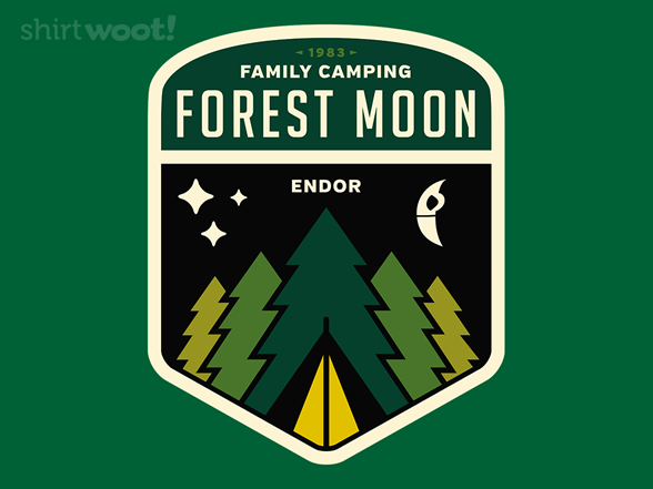 Forest Moon Camping T Shirt