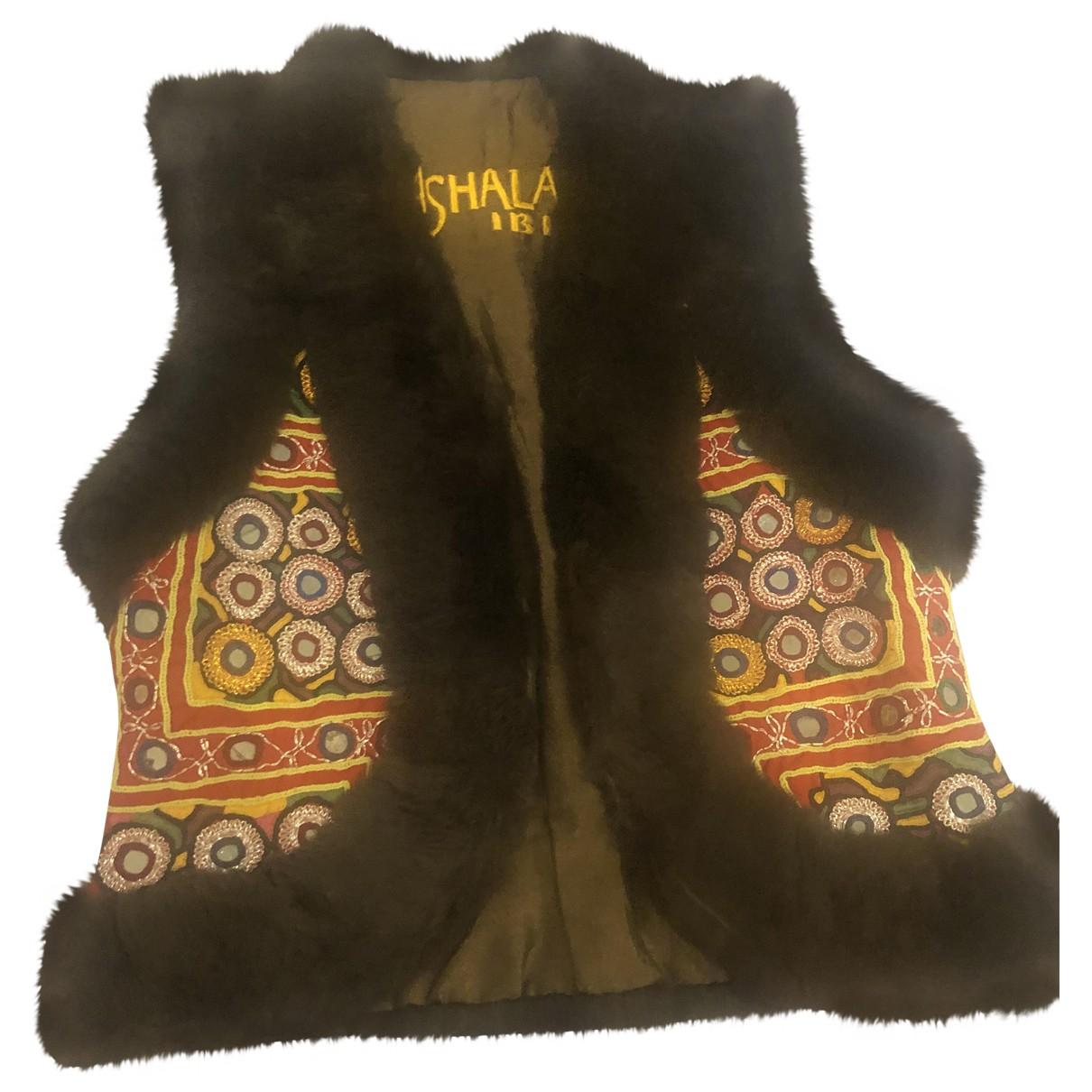 Non Signé / Unsigned Hippie Chic Beige Faux fur jacket for Women S International