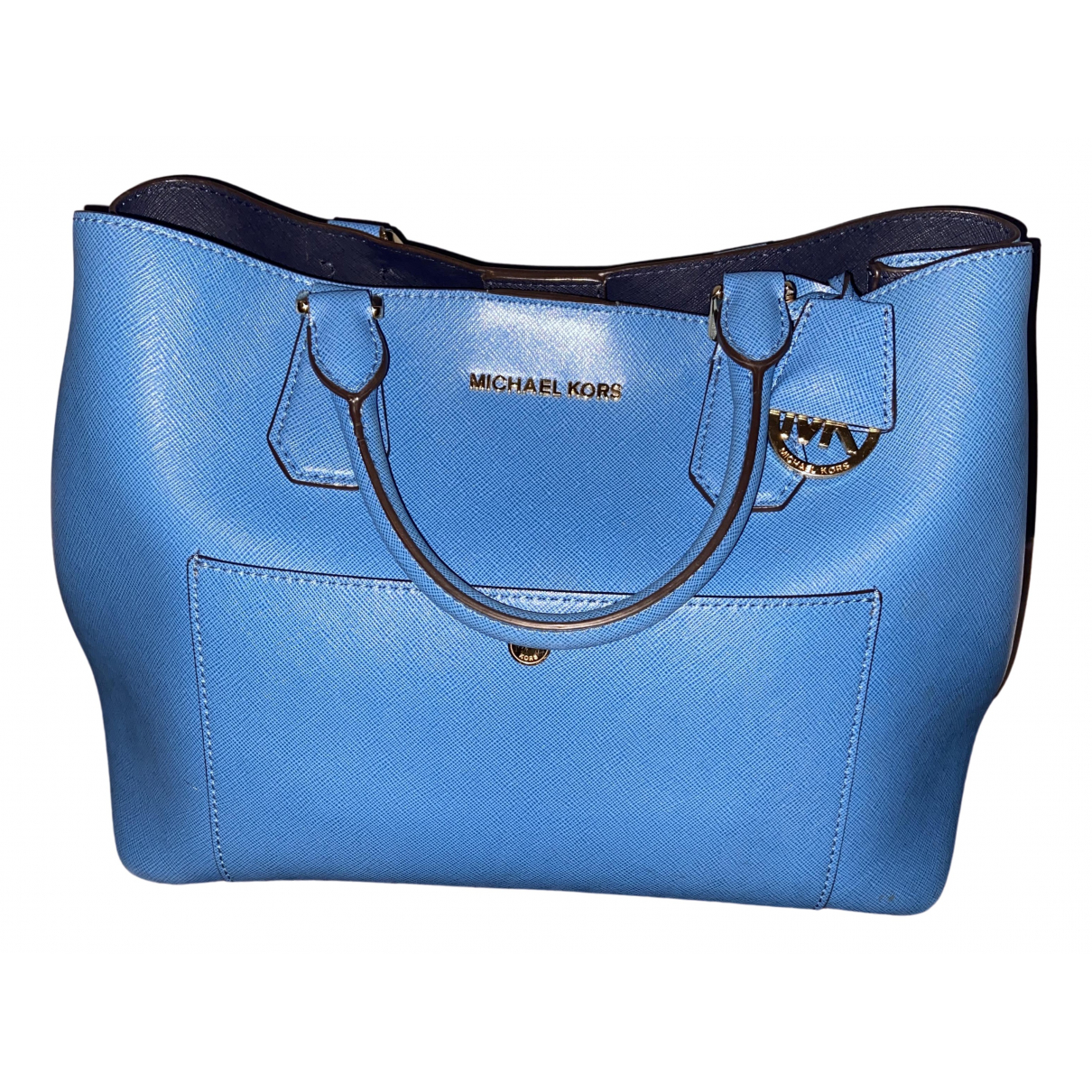 Michael Kors - Sac a main   pour femme en cuir - bleu