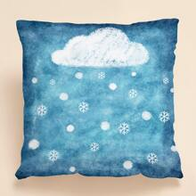 Cloud Print Cushion Cover Without Filler