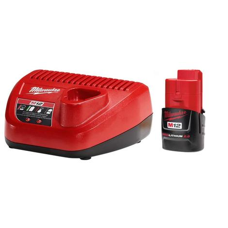 Milwaukee M12™ Redlithium™ 2.0Ah Battery and Charger Starter Kit